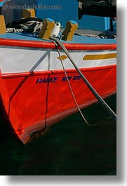 boats, closeup, europe, greece, mykonos, red, vertical, white, photograph