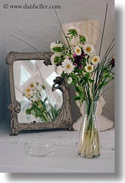 europe, flowers, greece, mirrors, mykonos, vertical, photograph