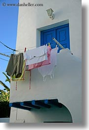 europe, greece, hangings, laundry, mykonos, vertical, photograph