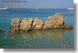 europe, greece, horizontal, mykonos, rocks, water, photograph