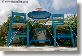 blues, chairs, clouds, europe, greece, horizontal, nature, naxos, sky, photograph