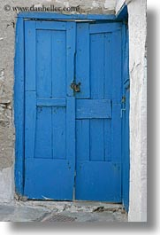 blues, doors, doors & windows, europe, greece, locks, naxos, vertical, photograph