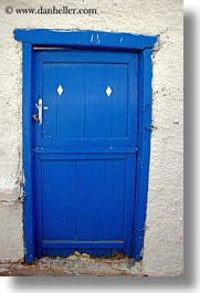 blues, diamonds, doors, doors & windows, europe, greece, naxos, two, vertical, white wash, photograph