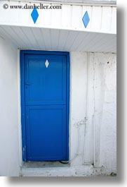 blues, diamonds, doors, doors & windows, europe, greece, naxos, vertical, white, white wash, photograph
