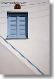 blues, doors & windows, europe, greece, naxos, railing, vertical, windows, photograph