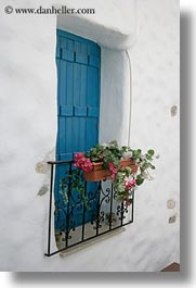 blues, doors & windows, europe, flowers, greece, nature, naxos, vertical, white wash, windows, photograph