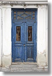blues, doors, doors & windows, europe, greece, locks, naxos, old, vertical, photograph