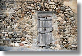 doors, doors & windows, europe, greece, horizontal, naxos, old, stones, walls, woods, photograph