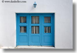 blues, doors, doors & windows, europe, greece, horizontal, lamps, naxos, threes, white wash, photograph