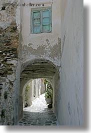 arches, doors & windows, europe, greece, naxos, over, tunnel, vertical, white wash, windows, photograph