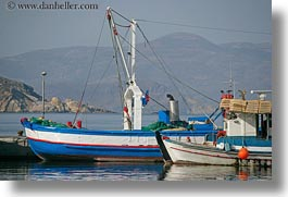 blues, boats, europe, greece, harbor, horizontal, naxos, white, photograph