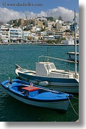 boats, europe, greece, harbor, naxos, towns, vertical, views, photograph