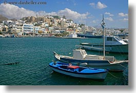 boats, europe, greece, harbor, horizontal, naxos, towns, views, photograph