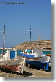 boats, europe, greece, harbor, naxos, old, shores, vertical, photograph