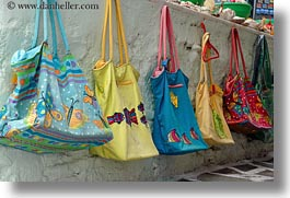 colorful, europe, greece, handbags, horizontal, naxos, photograph