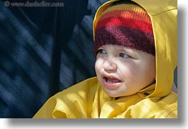 boys, clothes, europe, greece, hats, horizontal, jackets, naxos, people, rain, toddlers, yellow, photograph