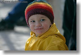 boys, clothes, emotions, europe, greece, hats, horizontal, jackets, naxos, people, rain, smiles, toddlers, yellow, photograph