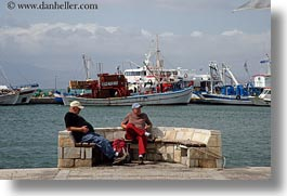 boats, europe, greece, horizontal, men, naxos, old, people, watching, photograph