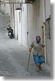 europe, greece, motorcycles, naxos, old, people, vertical, womens, photograph