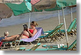beaches, clothes, emotions, europe, glasses, greece, horizontal, humor, mothers, naxos, people, pregnant, womens, photograph