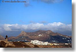 europe, greece, hikers, horizontal, mountains, naxos, scenics, towns, photograph