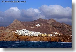 buildings, europe, greece, horizontal, mountains, naxos, scenics, photograph