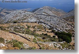 europe, fences, greece, hills, horizontal, naxos, over, rolling, scenics, stones, photograph