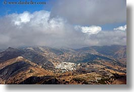 europe, greece, horizontal, mountains, naxos, scenics, towns, photograph