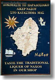 europe, greece, map, naxos, signs, vertical, photograph