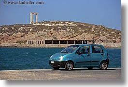 apollo, arches, blues, cars, colors, europe, greece, horizontal, naxos, opal, vehicles, photograph