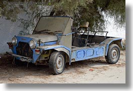 blues, colors, europe, greece, horizontal, jeep, moke, naxos, old, vehicles, photograph