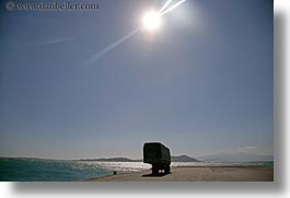bay, europe, greece, horizontal, loading, naxos, trucks, vehicles, photograph