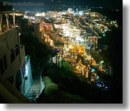 cityscapes, europe, greece, horizontal, leading, santorini, slow exposure, stairs, towns, photograph