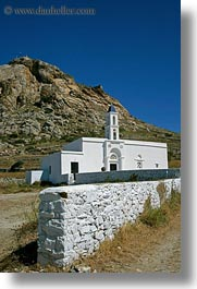 churches, europe, greece, mountains, tinos, vertical, white wash, photograph