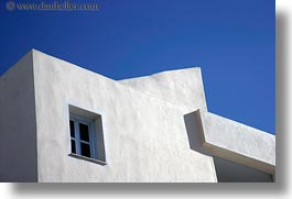 blues, buildings, europe, greece, horizontal, sky, tinos, white wash, windows, photograph