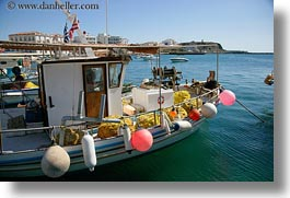 boats, colorful, europe, greece, harbor, horizontal, tinos, photograph