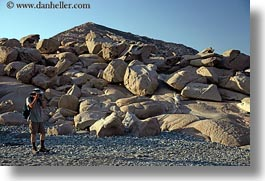 europe, greece, horizontal, photographers, rocks, shooting, tinos, photograph