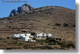 big, buildings, europe, greece, groups, hills, horizontal, rocks, scenics, tinos, photograph