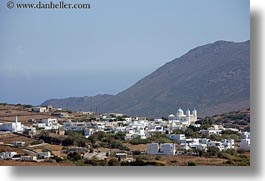 churches, europe, greece, horizontal, mountains, scenics, tinos, towns, photograph