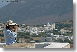 artists, cameras, clothes, europe, greece, hats, henry, horizontal, men, people, photographers, scenics, sunglasses, tinos, photograph