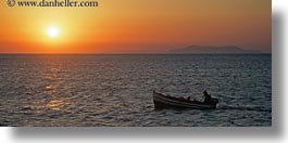 boats, europe, greece, horizontal, panoramic, scenics, sunsets, tinos, photograph