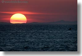 europe, greece, horizontal, ocean, over, scenics, sunsets, tinos, photograph