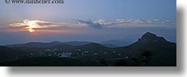 europe, greece, horizontal, panoramic, scenics, sunsets, tinos, photograph