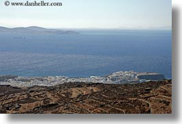 europe, greece, horizontal, ocean, scenics, tinos, towns, photograph