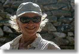 blonds, carol, clothes, emotions, europe, greece, happy, hats, horizontal, people, senior citizen, smiles, smiling, sunglasses, tourists, womens, photograph