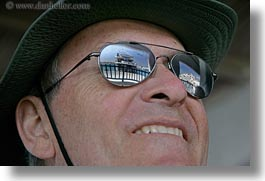 clothes, cruise, emotions, europe, glasses, greece, happy, hats, horizontal, howard, men, people, reflect, senior citizen, ships, sunglasses, tourists, photograph