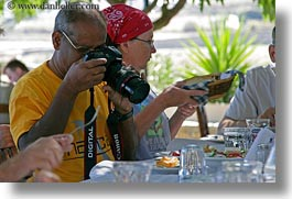 artists, europe, foods, greece, horizontal, joyce rao, men, people, photographers, photographing, rao, senior citizen, tourists, photograph