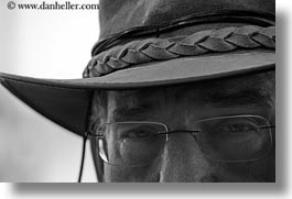 black and white, clothes, europe, glasses, greece, hats, horizontal, men, people, richard, tourists, photograph