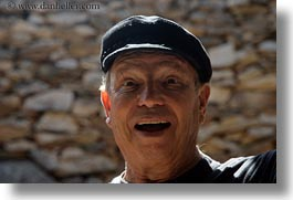 clothes, emotions, europe, greece, hats, horizontal, people, senior citizen, surprise, surprised, ted, ted eve, tourists, photograph