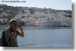 artists, cameras, europe, greece, horizontal, men, people, photographers, photographing, senior citizen, tom, tom sue, tourists, towns, photograph